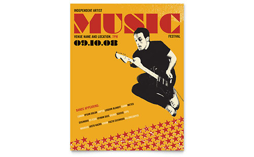 Live Music Festival Event Flyer Template