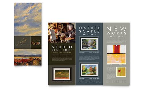Art Gallery & Artist Tri Fold Brochure Template