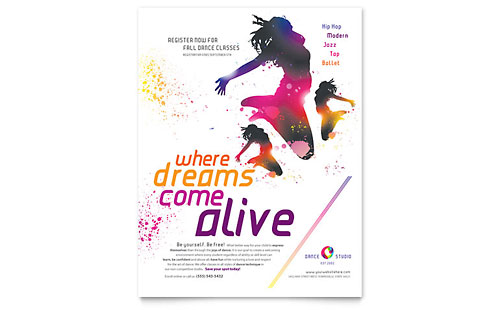Dance Studio Flyer Template