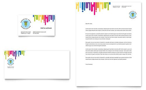 Kids Art Camp Business Card & Letterhead Template