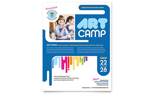 Kids Art Camp - Flyer Template