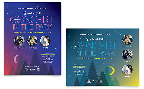 Summer Concert - Sample Poster Template