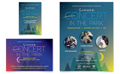 Summer Concert - Flyer & Ad Template