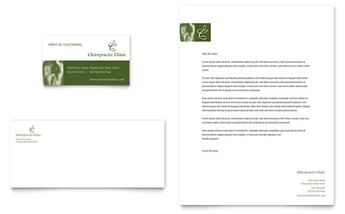 Chiropractor Business Card & Letterhead Template