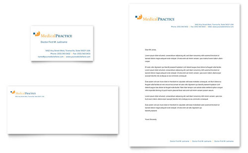 Medical Practice Business Card & Letterhead Template