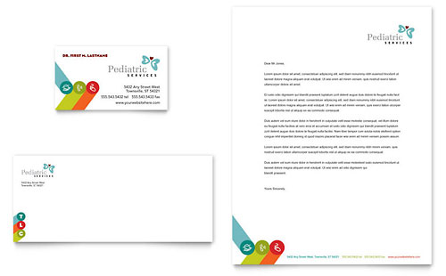Pediatrician & Child Care Business Card & Letterhead Template
