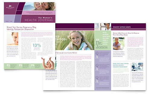 Medical health care newsletters templates designs for Health and wellness newsletter template