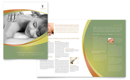 Massage & Chiropractic Brochure Template