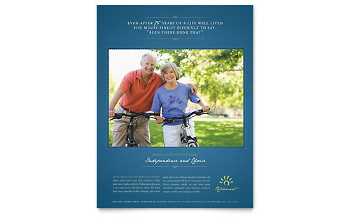 Senior Living Community Flyer Template
