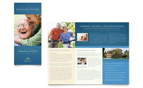 Senior Living Community Tri Fold Brochure Template