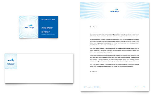 Family Dentistry Business Card & Letterhead Template