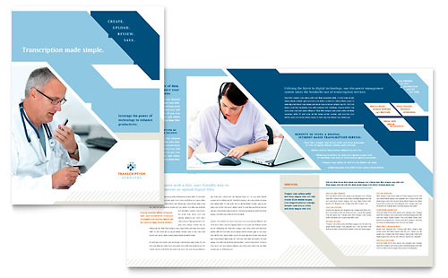 Medical Transcription Brochure Template