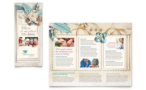 Hospice & Home Care Tri Fold Brochure Template