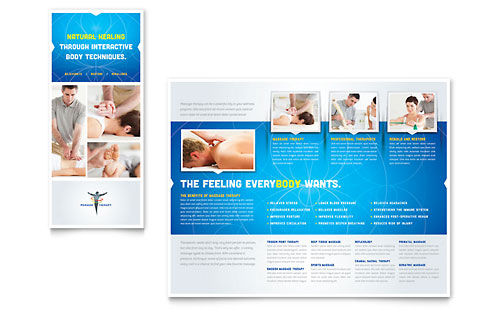 Chiropractor massage therapist pamphlet templates for Massage brochure template