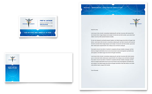 Reflexology & Massage Business Card & Letterhead Template