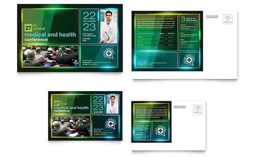 Medical Conference - Postcard Template