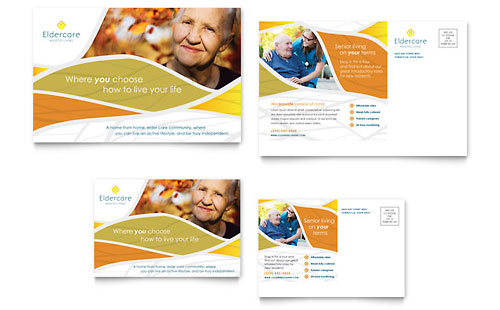 Assisted Living Postcard Template