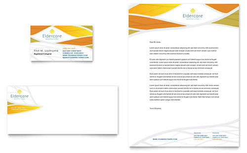 Assisted Living Business Card & Letterhead Template