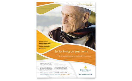 Assisted Living Flyer Template