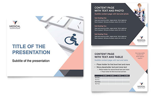 Home Medical Equipment PowerPoint Presentation Template