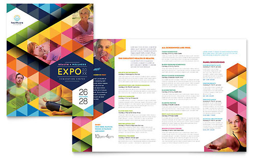 health coach brochure templates - job expo career fair tri fold brochure template design