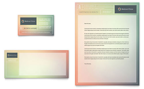 Medical Clinic Business Card & Letterhead Template