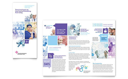 Cancer Treatment Tri Fold Brochure Template