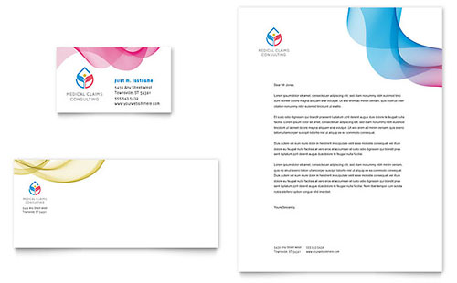 Insurance Consulting Business Card & Letterhead Template