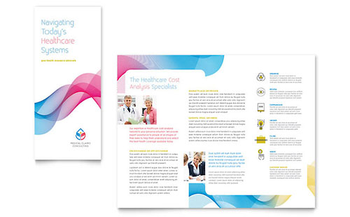 Insurance Consulting Tri Fold Brochure Template
