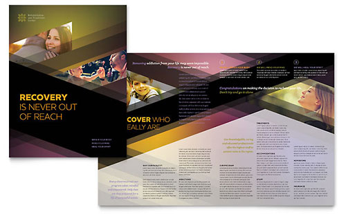 Rehab Center - Print Design Brochure Template