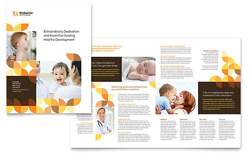 Pediatric Doctor Professional Marketing Brochure Template