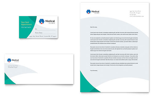Doctor's Office Business Card & Letterhead Template