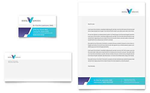 Dentist Business Card & Letterhead Template
