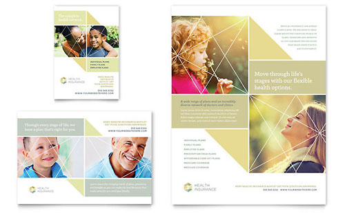Health Insurance Flyer & Ad Template
