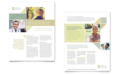 Health Insurance - Sample Sales Sheet Template