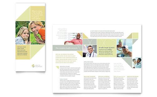 Health Insurance Tri Fold Brochure Template