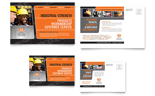 Manufacturing Engineering Postcard Template