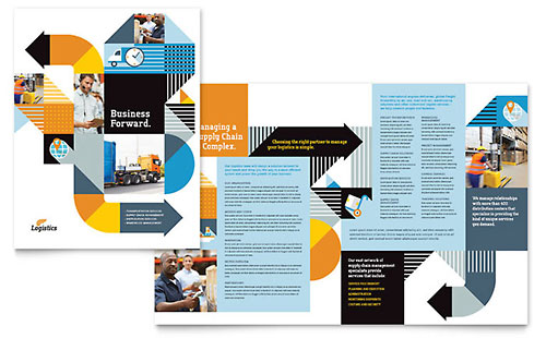 Logistics & Warehousing - Brochure Template