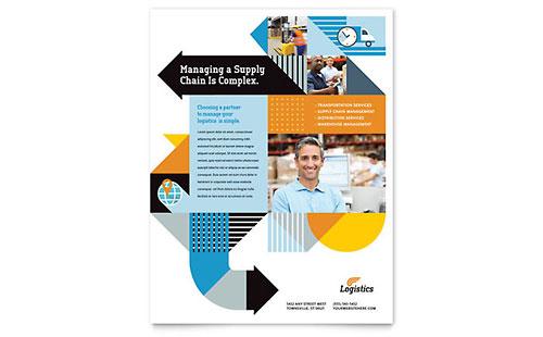 Logistics & Warehousing Flyer Template