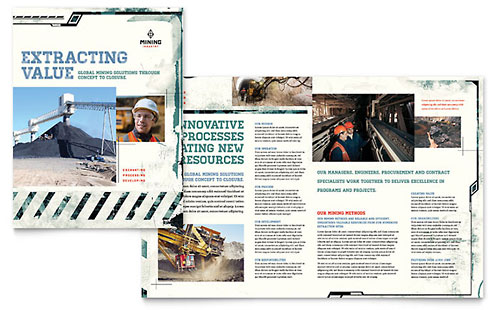 Mining Company Brochure Template