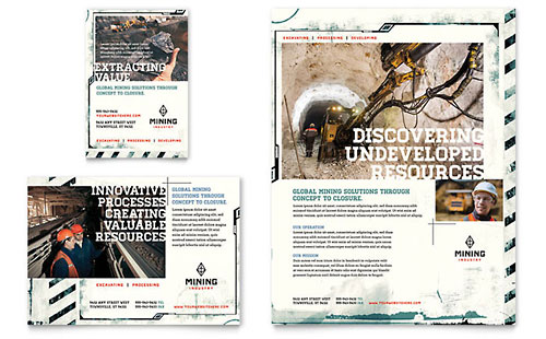 Mining Company Flyer & Ad Template
