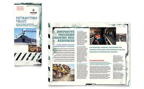 Mining Company Tri Fold Brochure Template