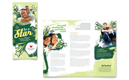 Child Advocates Tri Fold Brochure Template