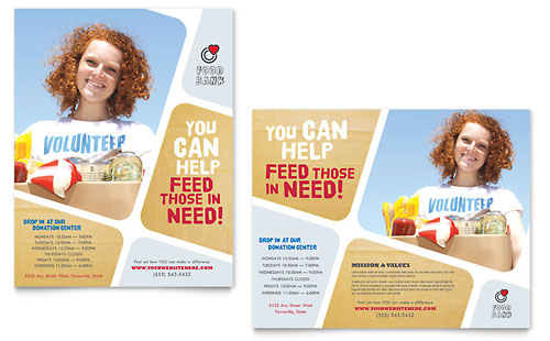Food Bank Volunteer Poster Template