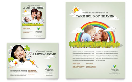 Foster Care & Adoption - Flyer & Ad Template