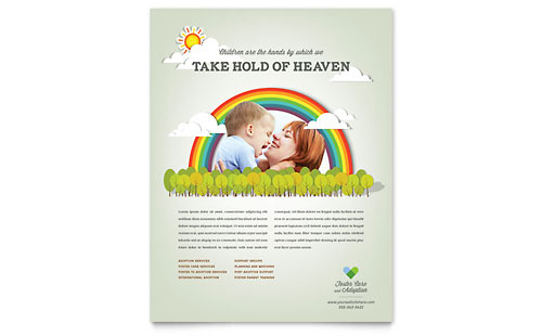 Foster Care & Adoption Flyer Template