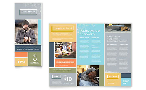 Homeless Shelter Brochure Template