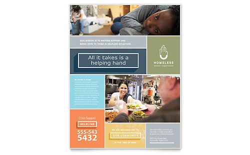 Homeless Shelter Flyer Template
