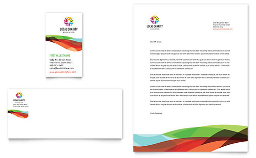 Charity Golf Event Business Card & Letterhead Template
