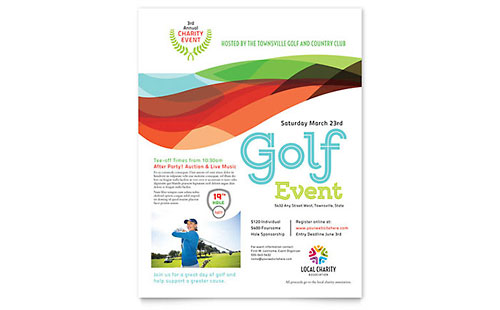 Charity Golf Event Flyer Template